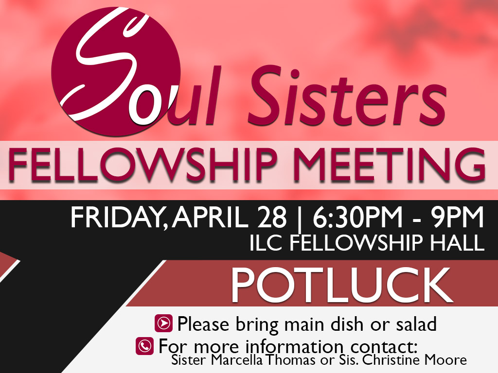 April 28, 2017 | Soul Sisters Fellowship