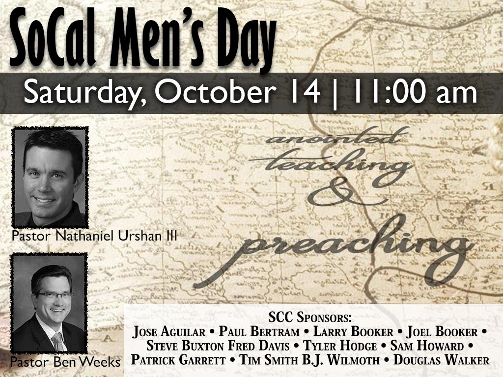 October 14, 2017 | So Cal Men's Day