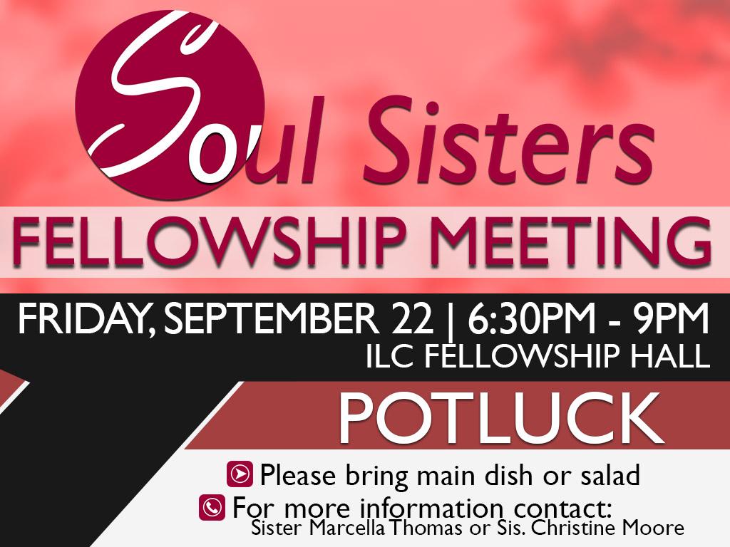 September 22, 2017 | Soul Sisters Potluck