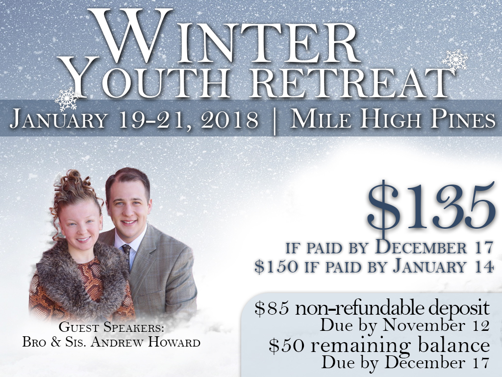 January 19-21, 2018 | Winter Retreat