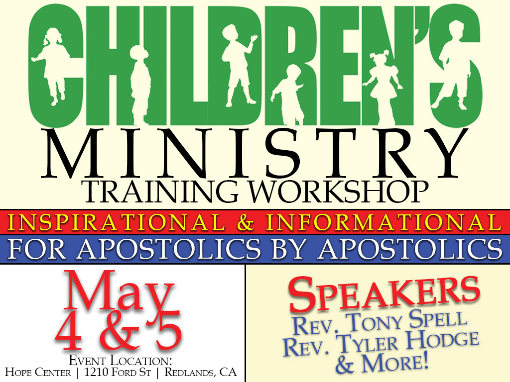Children's Ministry Workshop – May 4-5, 2018