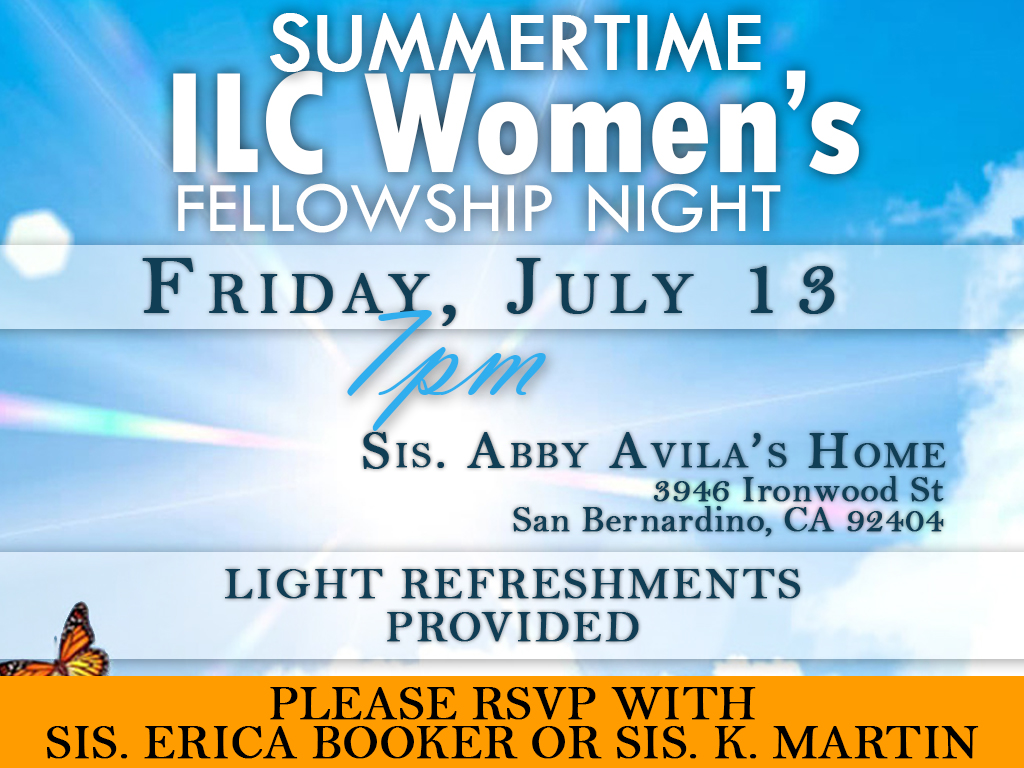 Ladies Fellowship | July 13, 2018