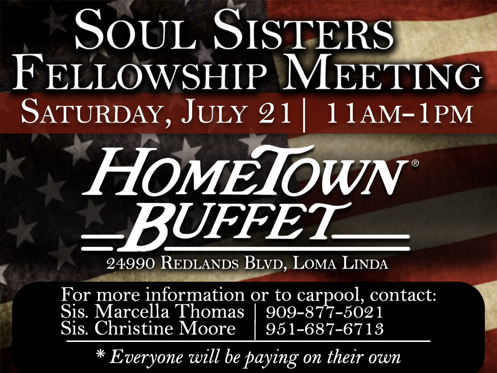 Soul Sisters Fellowship | July 21, 2018