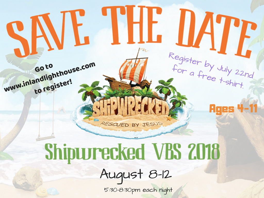 VBS – Register Now | August 8-12, 2018