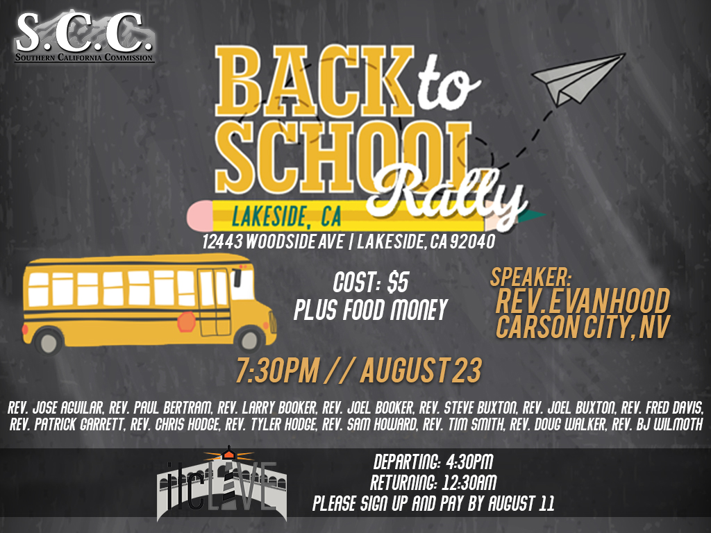 SCC Back to School Youth Rally | August 23, 2019