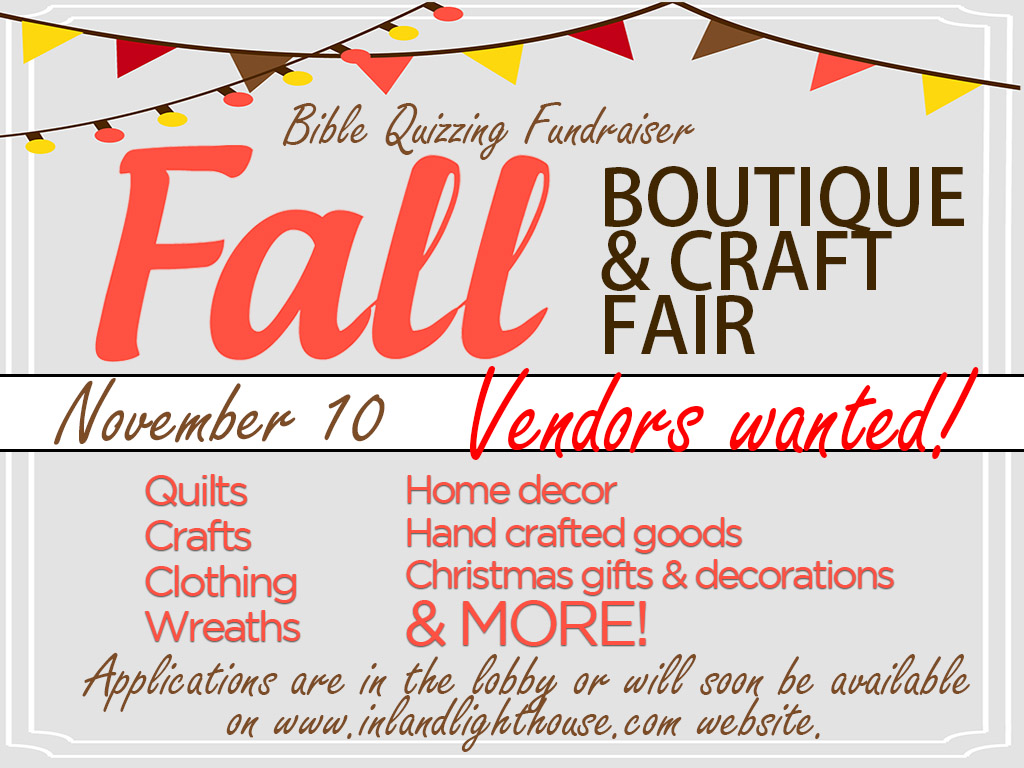 Fall Boutique and Craft Fair | November 10, 2018