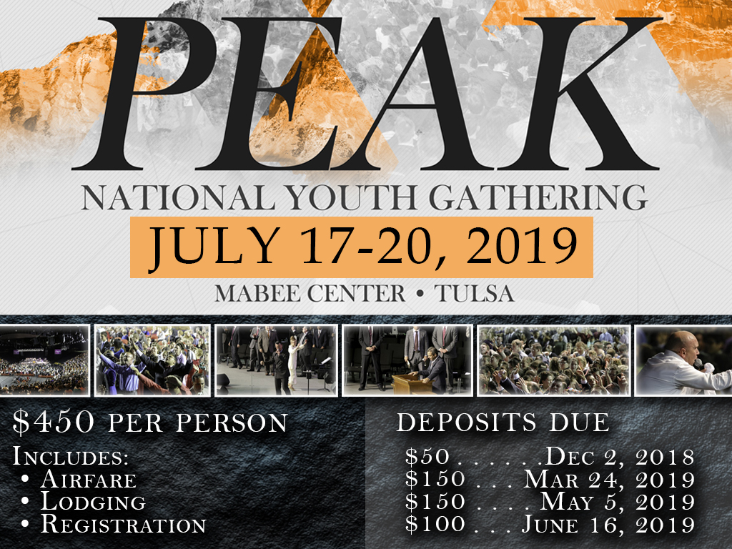 PEAK Youth Conference | July 17-20, 2019
