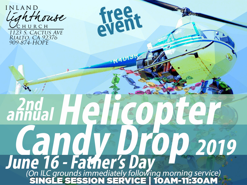 Helicopter Candy Rain!!! | June 16, 2019 (Father's Day)