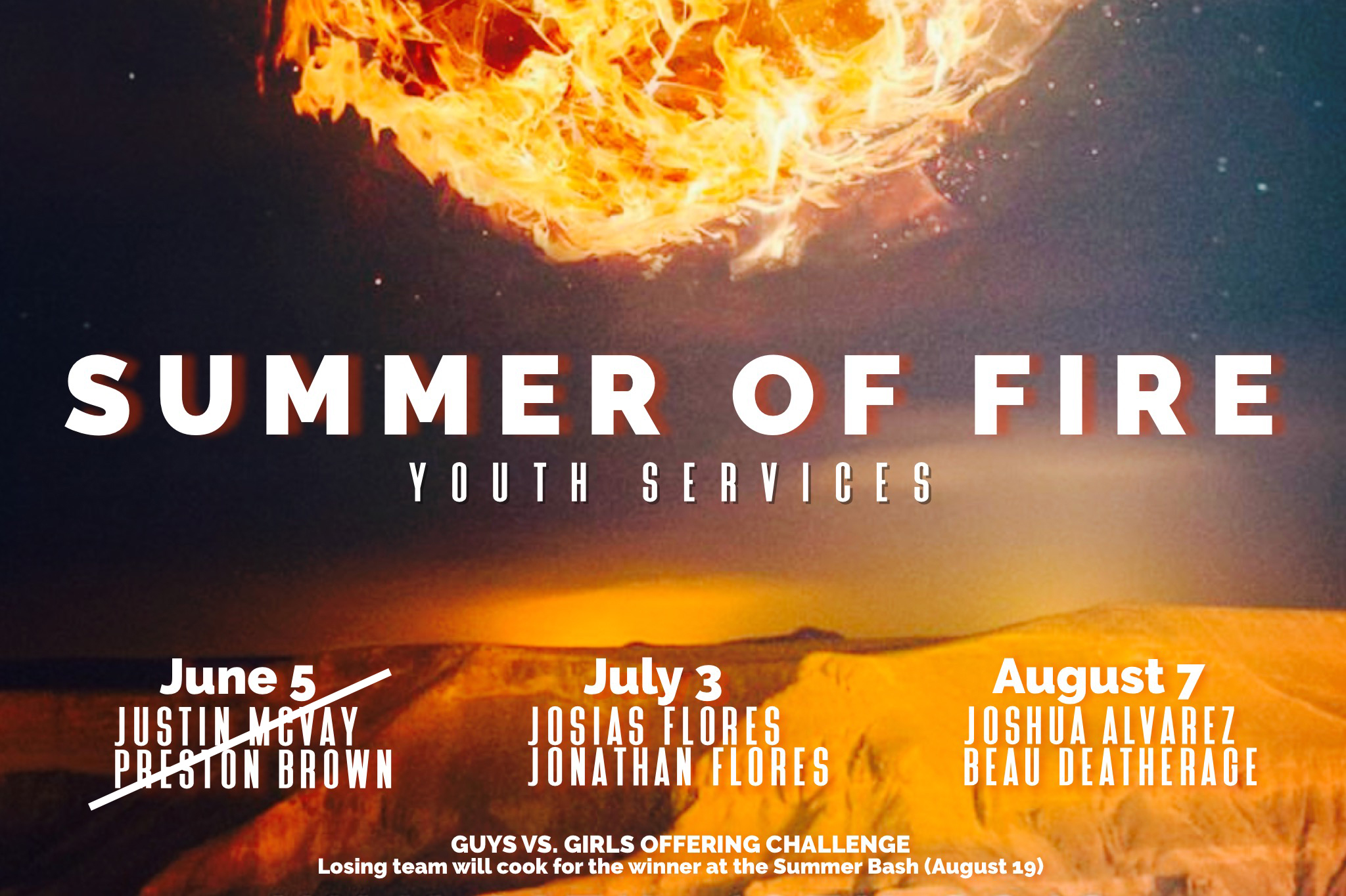 Summer of Fire Youth Services | Next is July 3, 2019