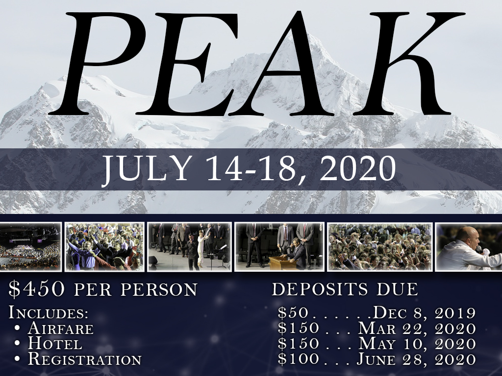 PEAK Youth Conference | July 14-18, 2020