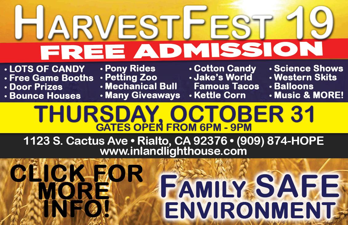 2019 HarvestFest | October 31, 2018