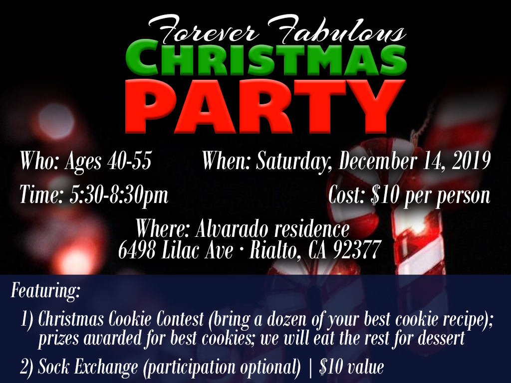 Fabulous 40s Christmas Party   December 14, 2019