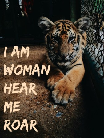 I am Woman, hear me roar