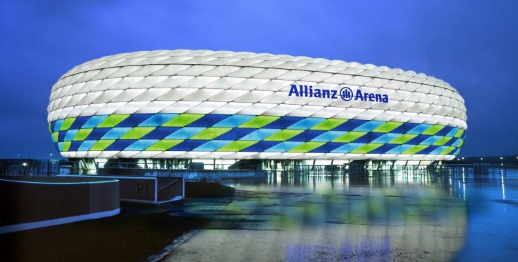 Allianz Arena by Architects Herzog & DeMeuron in Munich