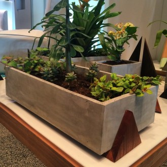 Concrete + Wood planter by Modus Design