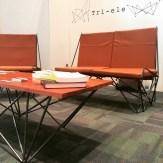 Tri-ele set of furniture by Kristoffer Julien