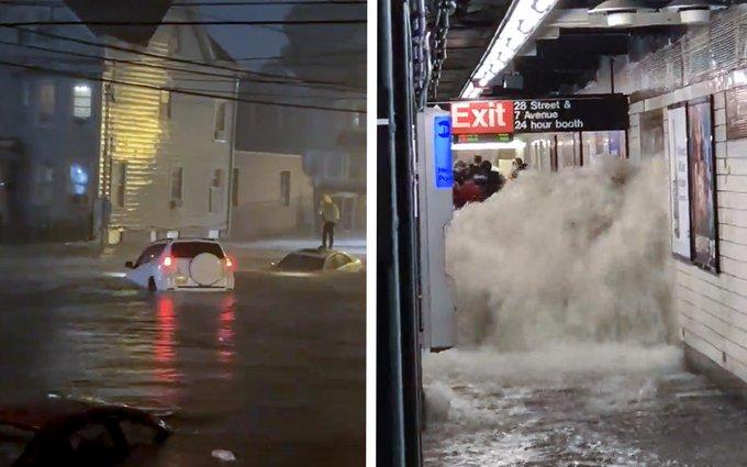 Inundaciones en New York