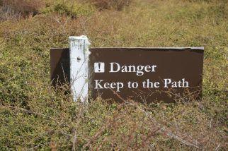 Blijf op het pad!