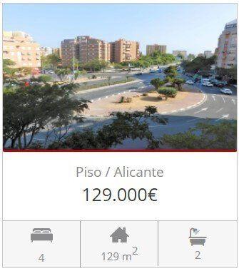 Inmobiliaria Alicante piso glorieta musico alicante