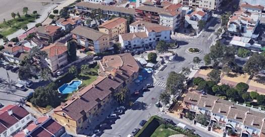 La Cala del Moral y nuestras oficinas (vista desde Google Earth)