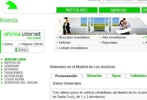 Cajamadrid renueva su canal vivienda marketing for Caja madrid es oficina internet