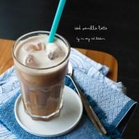 Iced vanilla latte