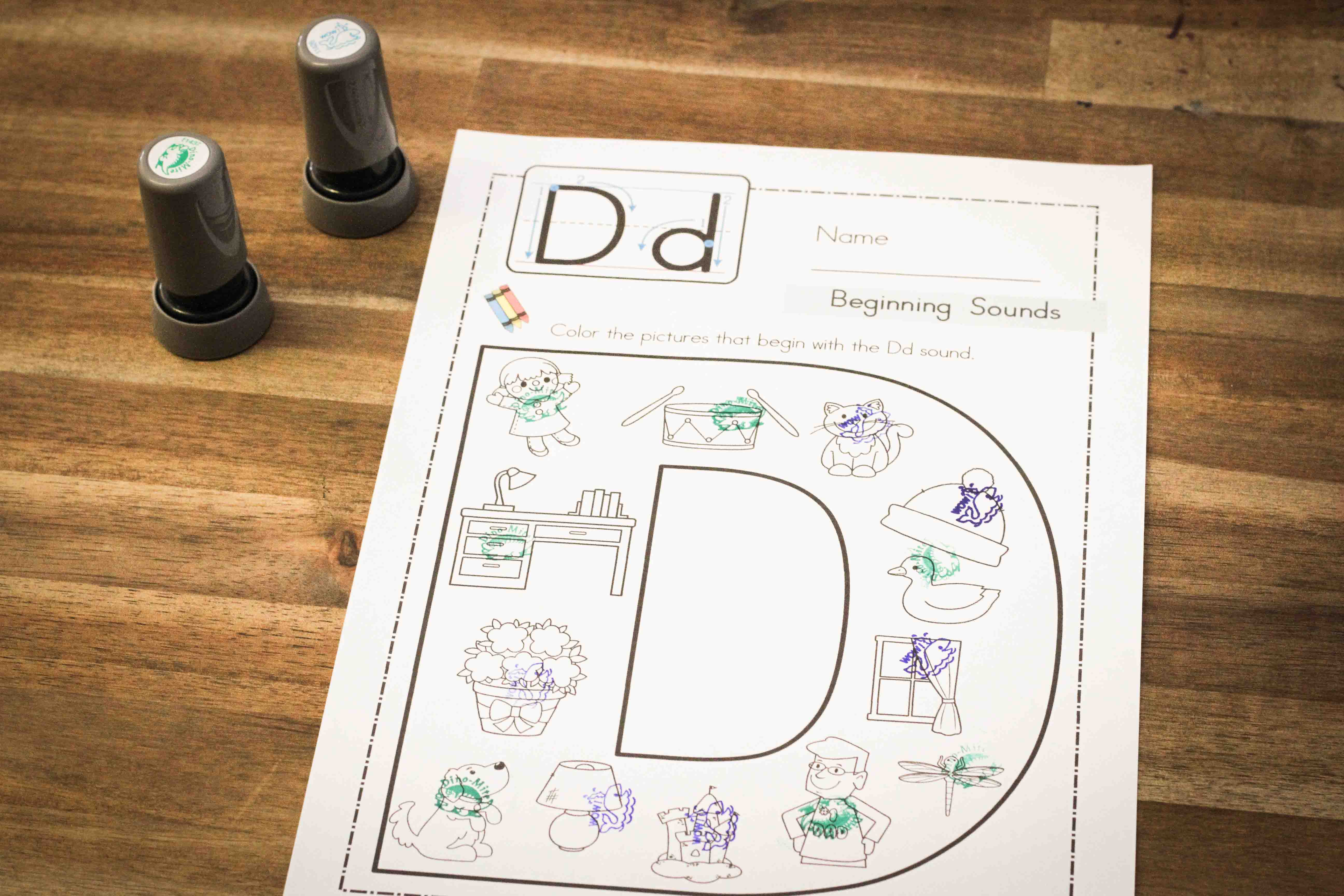 Preschool Letter D