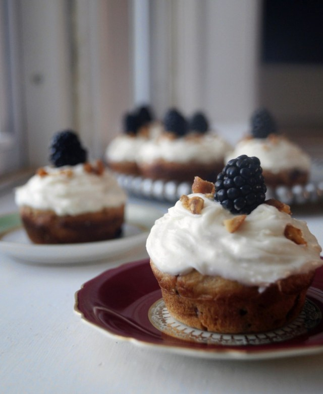 Honeycake with Blackberries