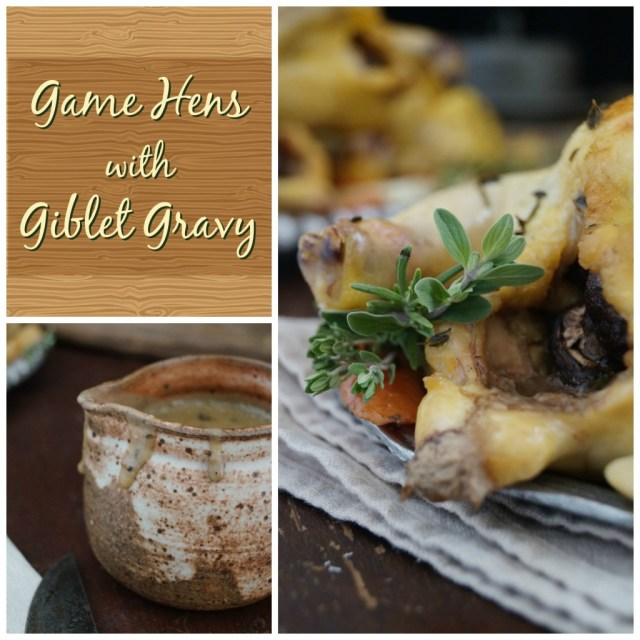 game hens with giblet gravy
