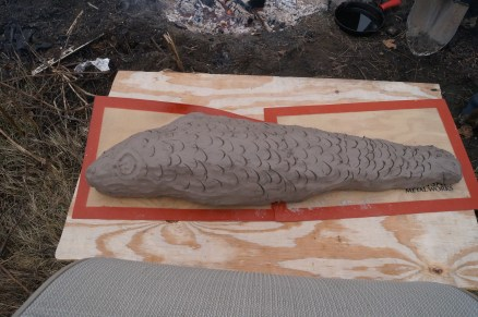 clay-wrapped cod