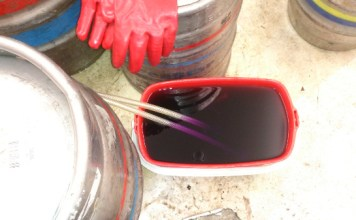 Cask Line Cleaning