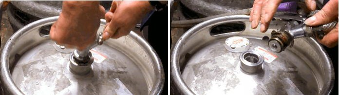 How to change an InBev keg of Beer1