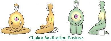 Chakra meditation posture