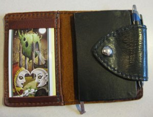 My Renaissance Art case open showing tarot journal and card of the day.