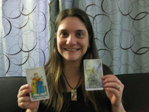 Me and the King of Cups from The Universal Waite deck and The Shadowscapes Tarot