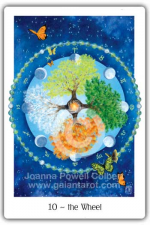 Wheel of Fortune from The Gaian Tarot by Joanna Powell Colbert