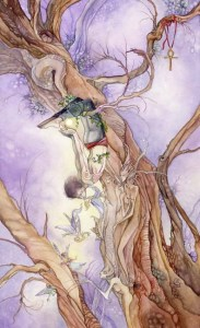 The Hanged Man from the Shadowscapes Tarot by Stephanie Pui-Mun Law
