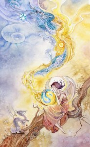 Temperance from The Shadowscapes Tarot