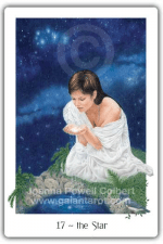The Star from the Gaian Tarot by Joanna Powell Colbert