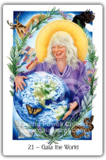 The World from The Gaian Tarot by Joanna Powell Colbert