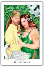 The Lovers from the Gaian Tarot by Joanna Powell Colbert