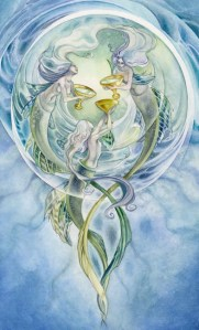 3 of Cups from The Shadowscapes Tarot by Stephanie Pui-Mun Law