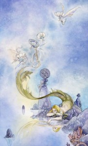4 of Cups from The Shadowscapes Tarot by Stephanie Pui-Mun Law