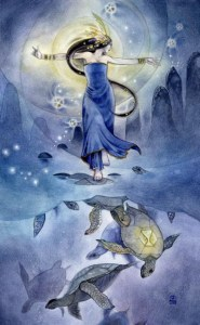 Queen of Cups from The Shadowscapes Tarot by Stephanie Pui-Mun Law