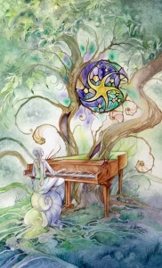 9 of Pentacles from The Shadowscapes Tarot by Stephanie Pui-Mun Law