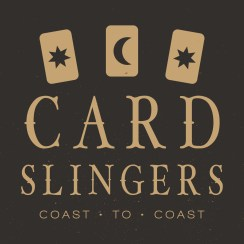 Cardslingers Coast to Coast Logo with 3 cards