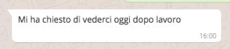 primo messaggio