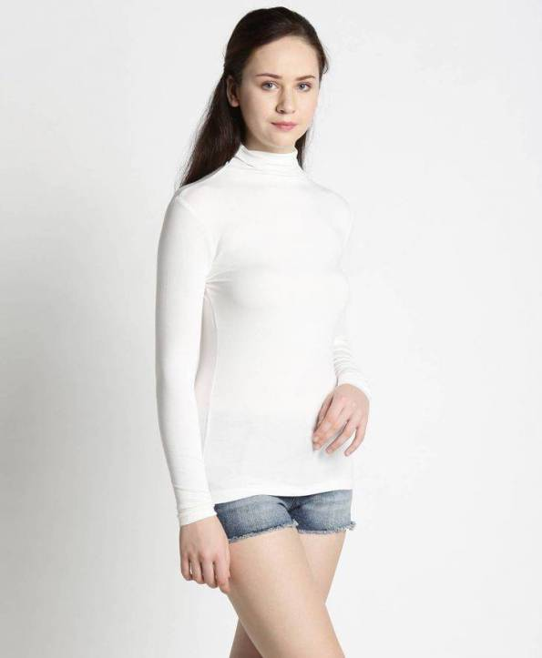 Ladies High Neck White Side by Side
