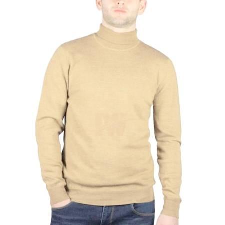 Men High Neck Turtle Neck Sweatshirt Tops T Shirt Skin Front