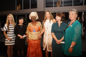 Grant recipients with IIW President Yemisi and National Project Coordinator Susan Parry